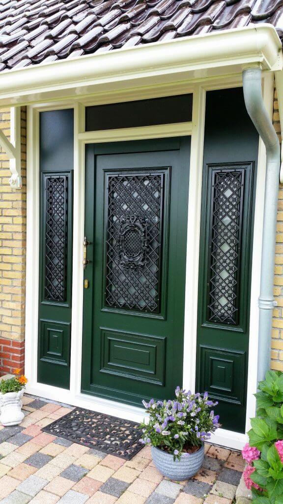 voordeur-groen-gietijzer