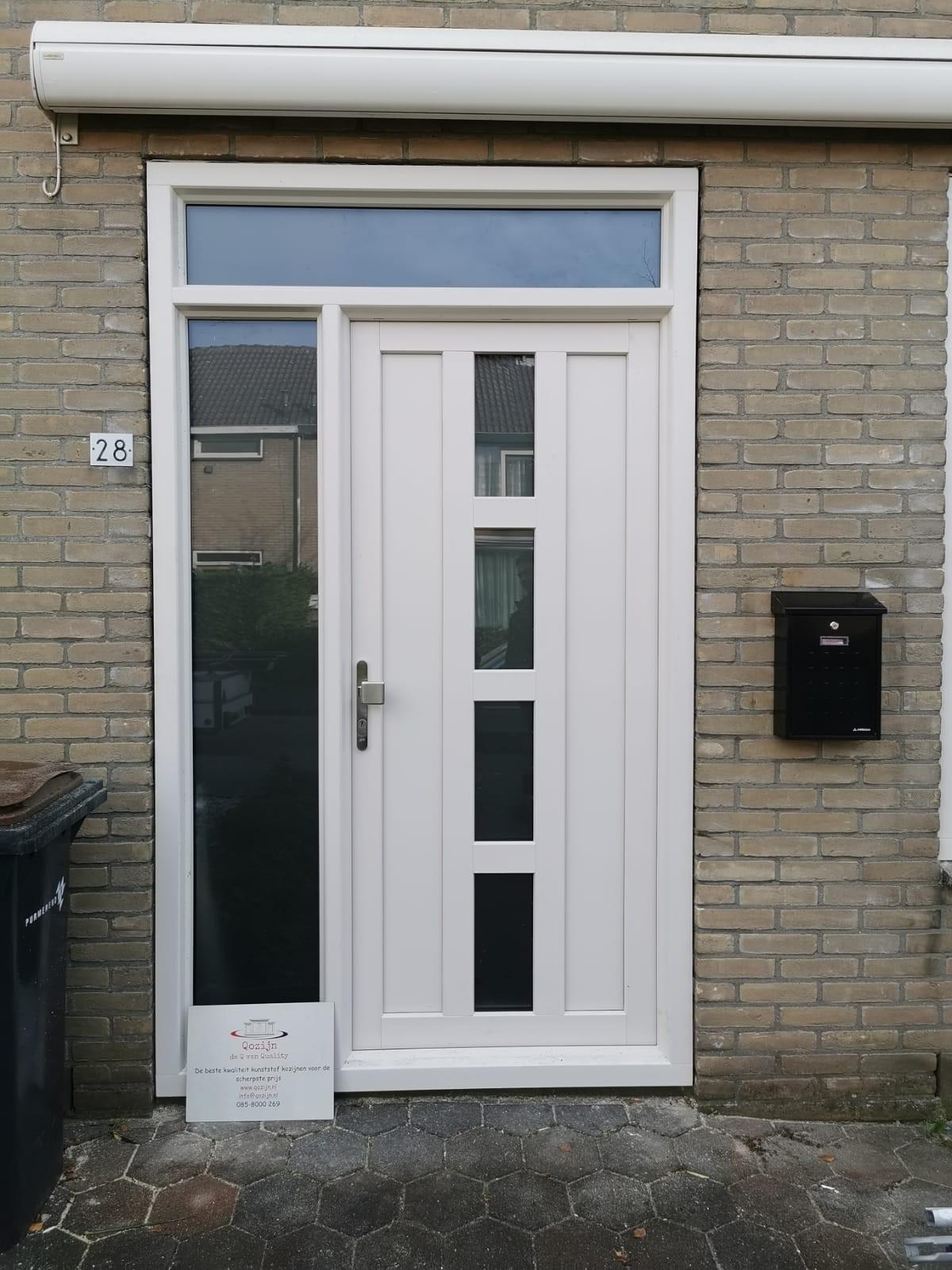 kunststof deur wit